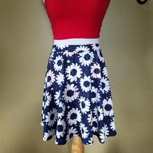 Clothing, Shoes & Accessories Hearty Hollister Floral Velvet Skater Skirt Size Xs